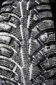 Wheel in snow — Stock Photo