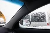 Snowfall in city — Stock Photo