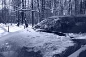 Car under snow — Stock Photo