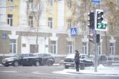 都市の降雪 — ストック写真