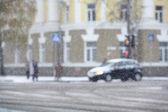 Nevicata in città — Foto Stock