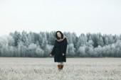 Girl in winter — Stock Photo