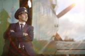 Man pilot — Stock Photo