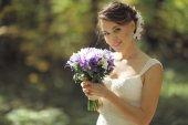 公園の花嫁 — ストック写真