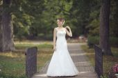 Bride in park — Foto Stock