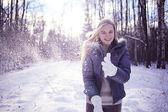 Teen girl in winter — Foto de Stock