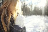 Teen girl in winter — ストック写真