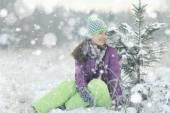 Kadın kış portresi — Stok fotoğraf