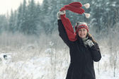 Frau Winter portrait — Stockfoto