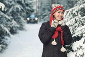 Woman  winter portrait — Stock Photo