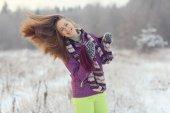 Frau winter portrait — Stockfoto