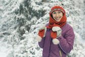 Kış kadını — Stok fotoğraf