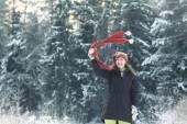 Woman  winter portrait — Stock Photo