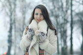 Winter young girl portrait — Stock Photo