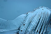 Blue ice  texture  background — Stock Photo