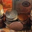 ������, ������: Russian and euro coins