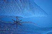 Cold ice texture — Stock Photo