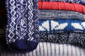 Knitted textile background — Fotografia Stock