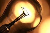 Light bulb close up — Stock Photo