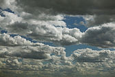 Dramatic Sky with clouds — Stock Photo