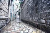 Narrow street of old town in Europe — Stock Photo