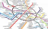 Map subway — Stock Photo