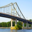 Park Bridge - a pedestrian bridge across Dnieper River — Stock Photo #54110077