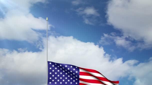 Bandera nacional — Vídeo de stock