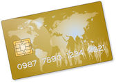 Gold credit card — Stock Photo