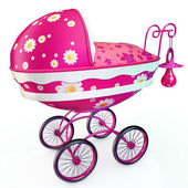 Awesome pink buggy — Stock Photo