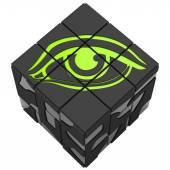 Rubik cube eye — Stock Photo