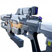 Sci-fi railgun — Stock Photo