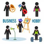 Business hobby — Stock Vector