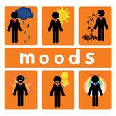 Business moods — Wektor stockowy