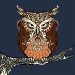 Brown Owl — Stock Vector #75565235
