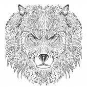 Wolf lineart — Stock Vector
