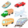 Transport pixelart — Stock Vector #76457777