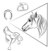 Horse vector — Stock Vector