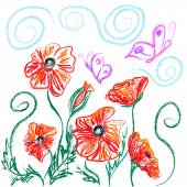 Poppies — Stock Vector