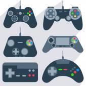 Set gamepad icons — Stock Vector