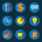 Set informative business icons — Stock Vector