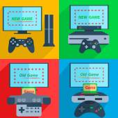 Set game consoles — Stock Vector
