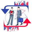 Business people isolated, infographics, arrows — Stock Vector #77213973