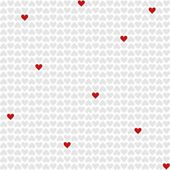 Red and gray little hearts lovely romantic Valentine's day seamless pattern on white background — Stockvektor