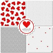 Hearts pattern set — Stock Vector