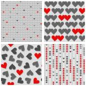 Red and gray hearts — Stock Vector