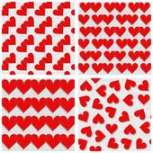 Red hearts on white — Stock Vector
