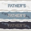 Happy Fathers Day wishes on torn paper banner set isolated on light background — Stock Vector #76011955