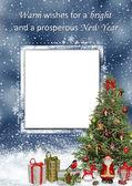 Christmas gratulationskort — Stockfoto
