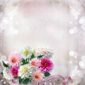 Vintage gorgeous gentle background with flowers dahlias — Stock Photo